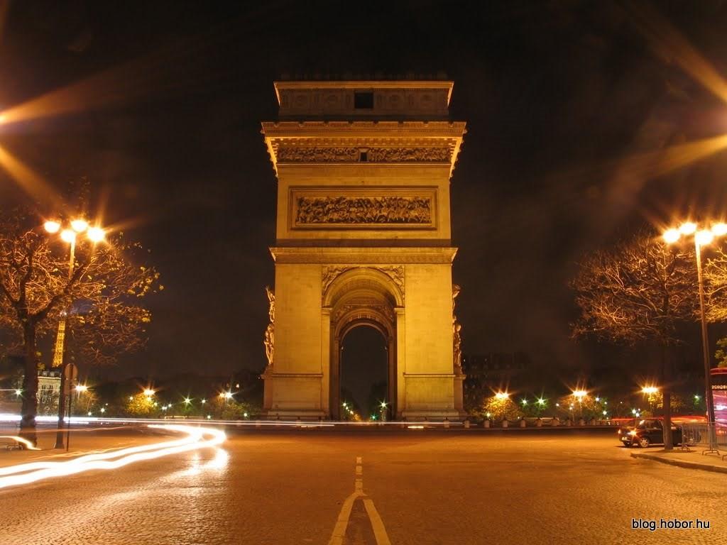 Arc de Triomphe by night, PARIS (France)