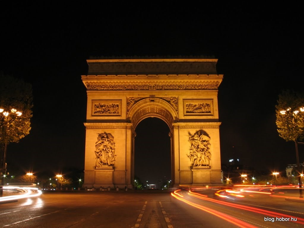 Arc de Triomphe by night, PARIS (France)